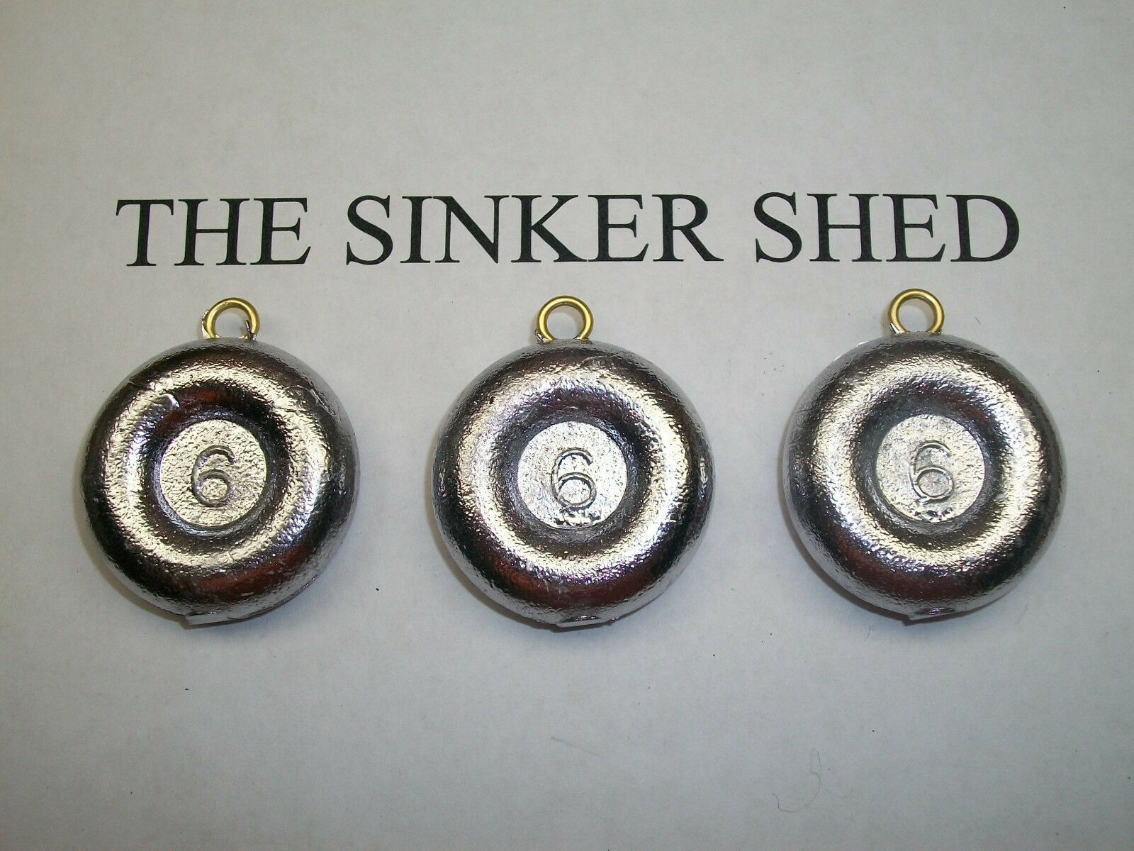 6oz river coin sinkers    decoy weight - quantity of 6 12 25 50 100 FREE SHIPPING  more order