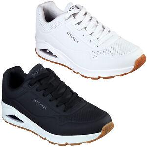 SKECHERS UNO STAND ON Air Herren Schuhe Sneaker Turnschuhe 52458 (Weiß WHT)