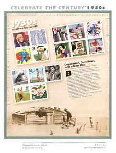 551A-32c-1930s-Celebrate-the-Century-S15-3185-USPS-Commemorative-Stamp-Panel