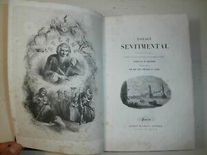 Raro Introvabile antico libro Voyage sentimental Stern Illustrato 1841