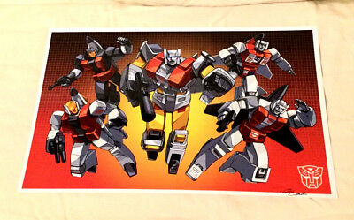 G1 Transformers Decepticons 1st Season Series Team Picture Poster 11x17