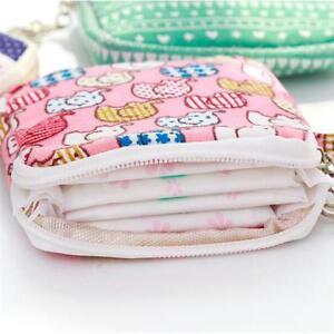 Women-Girl-Cartoon-Sanitary-Napkin-Towel-Pads-Small-Bag-Purse-Holder-Kids-WA
