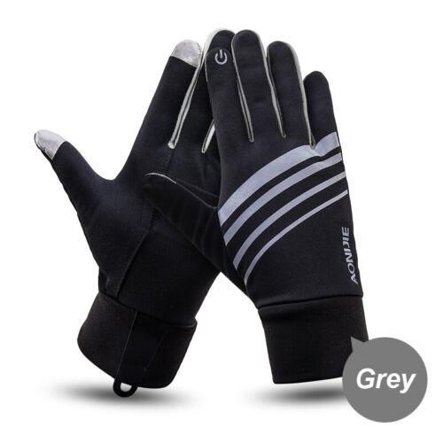 AONIJIE Cycling Gloves Windproof Gel Padded Touchscreen Full Finger Biking Glove