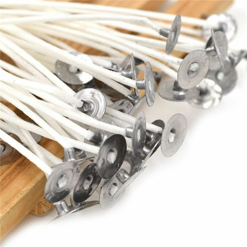 50 Candle Wicks 6 Inch COTTON Core Candle Making Supplies Pretabbed