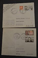 lettre 1 ere LIAISON PARIS VARSOVIE MOSCOU 1960 2 lettres