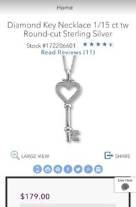 a439f9cf1 Image is loading Kay-Jeweler-s-diamond-key-pendant-sterling-silver