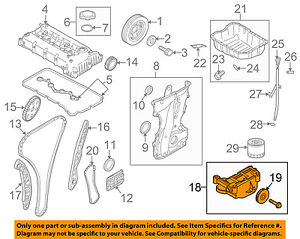 kia oem 10 13 forte engine oil pump 213102g001 ebay rh ebay com 2011 kia forte engine diagram 2013 Kia Forte Engine