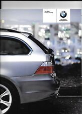 BMW 5 SERIES TOURING 525iSE, 545iSE, 525d, 530dSE AND 530dSE  BROCHURE 2004 2005