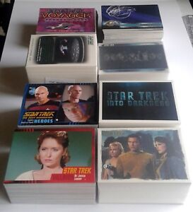 Complete-Star-Trek-Trading-Card-sets-TOS-TNG-Voyager-Movies-50th-Anniversary-etc