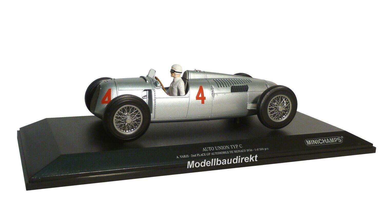 Auto Union Type C A. Varzi GP Automobiles de Monaco 1936 1:18 Minichamps 155361004 | Bonne Réputation Over The World  | Authentique  | Durable