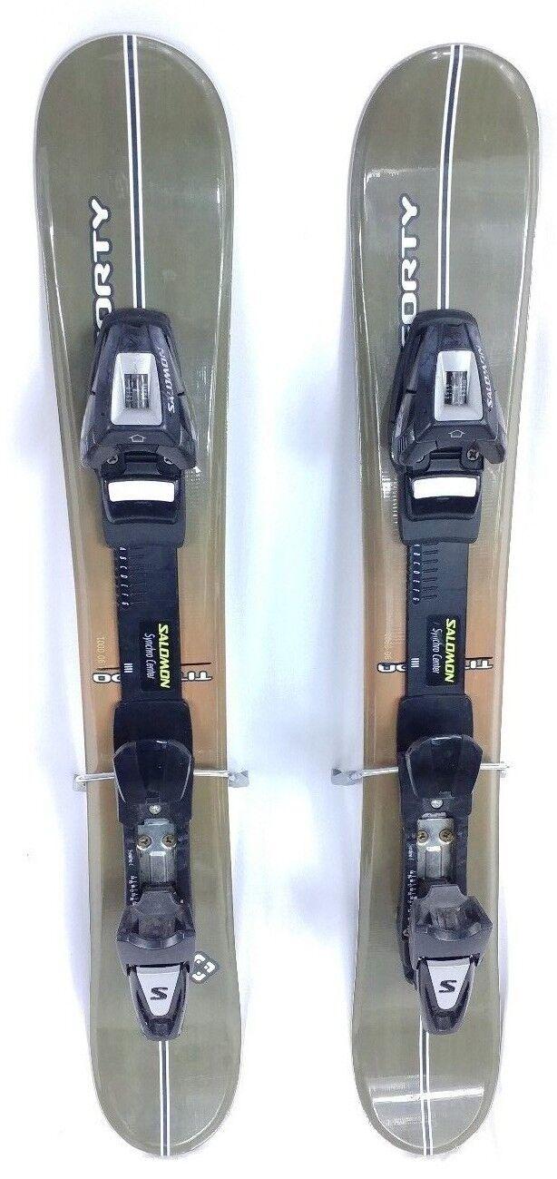 STEP IN SNOWBLADE, 90cm FiveForty Titan Ski Blades with USED ADJ. Ski Bindings
