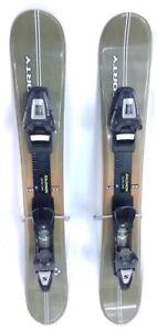 STEP-IN-SNOWBLADE-90cm-FiveForty-Titan-Ski-Blades-with-USED-ADJ-Ski-Bindings