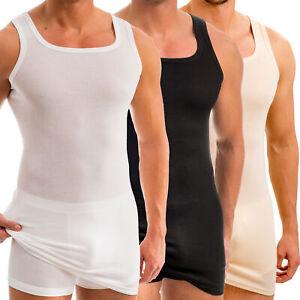 HERMKO 16027 2er Pack Herren extralanges Unterhemd aus Baumwolle//Modal