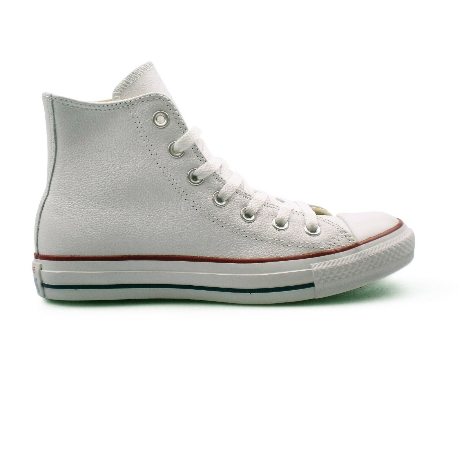 Converse Chuck Taylor All Star Leather High Top White Unisex Trainers. New