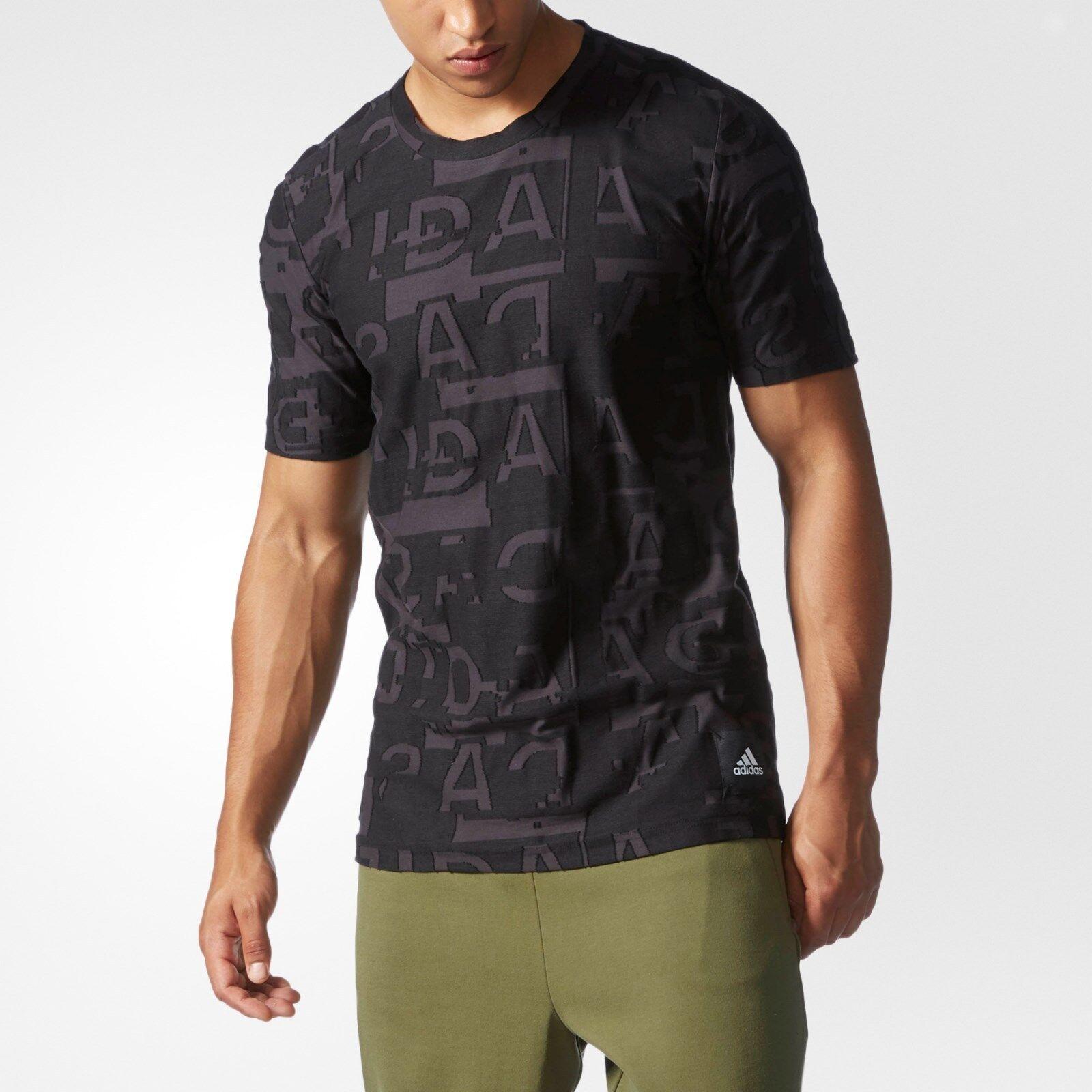 Icono de Adidas  Unisex Tee Utilidad Negro Negro Algodón Jacquard S94839 (L)  opciones a bajo precio