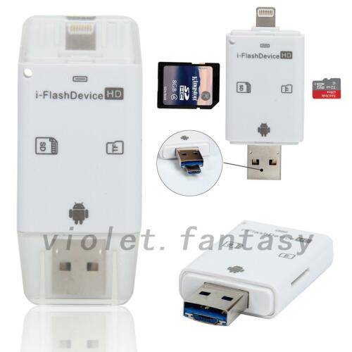 USB i-Flash Drive Micro SD//TF Memory Card Reader Adapter For iPhone /& Android US