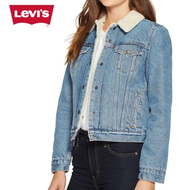Plus Size Fleece Lined Denim Jacket
