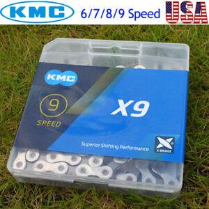 KMC-6-7-8-9s-1-2-034-X3-32-034-11-128-Chain-MTB-Bike-Cassette-Sprocket-Fit-Shimano-SRAM