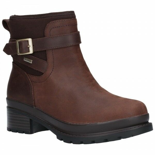 Muck Boots LIBERTY Ladies Womens Waterproof Leather Leather Leather Chelsea Ankle Boots Brown e43354