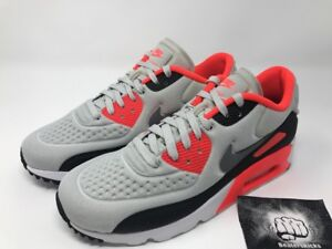 website for discount nice shoes new arrival Details about Nike Air Max 90 Ultra SE Neutral Grey Bright Crimson Infrared  Sz 7 [845039-006]