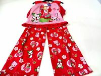 Strawberry Shortcake Girls 2pc Pajama Set With Built In Skirt Us Size 6x