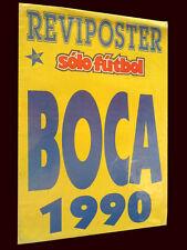 BOCA JUNIORS 1990 - Special Solo Futbol Magazine/Poster Argentina
