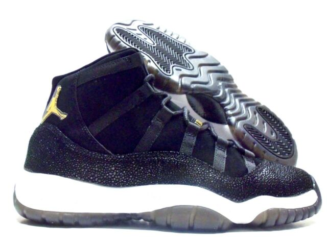 new styles 16a69 b3c01 Nike Air Jordan 11 Retro Prem HC XI Heiress Stingray Aj11 Black Gold  852625-030 7 Y