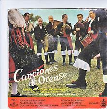 """CONCIEONES DE ORENSE Disque 45T 7"""" EP CORAL RUADA Con gaitas y pandero HISPA VOX"""