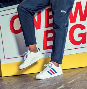 Adidas Grand Court Retro Shoes White Uk 8 Eur 42 Ebay