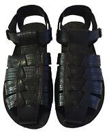 Men Leather Fisherman Sandals Black Strap Shoes Closed Toe Sandal Size 6-12 New