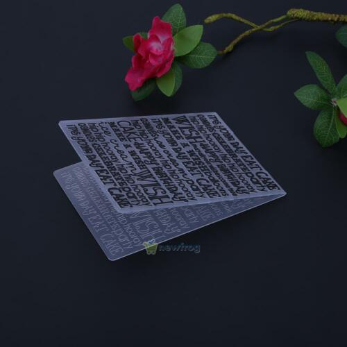DIY Plastic Embossing Folder Template Die Cutting Scrapbooking Album Card Crafts
