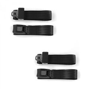 Standard 2Pt Black Lap Bucket Seat Belt Kit Pair Fits Ford Falcon 1960-63 Hot Ro
