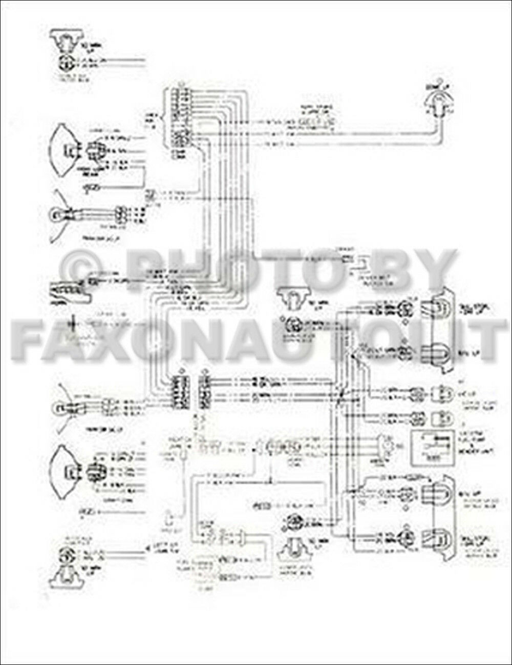 1976 Chevy Chevette Foldout Wiring Diagrams Electrical Schematic Original  OEM | eBay