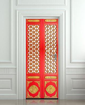 Wall Decal Deco Door Oriental 1401