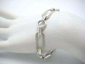 Sterling-Silver-925-Paper-Clip-Link-Chain-Bracelet