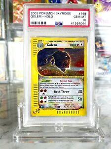 Crystal-Golem-Holo-Pokemon-Card-e-Skyridge-148-144-BGS-PSA-Gem-Mint-10
