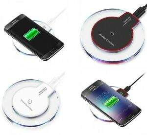 innovative design 03779 60bea Details about Qi Wireless Charging Pad Dock for Apple iPhone 5 SE 6 6S 7  7Plus iPhone X 8 Plus