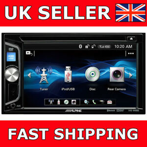 alpine ive w560bt car cd dvd double din stereo bluetooth ipod iphone 6 2 lcd ebay. Black Bedroom Furniture Sets. Home Design Ideas