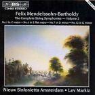 Felix Mendelssohn Complete String Symphonies Vol 2 Markiz NSA
