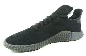 Adidas-Mens-Shoes-Originals-Sneakers-Kamanda-Triple-Black-Style-BD7903-Leather