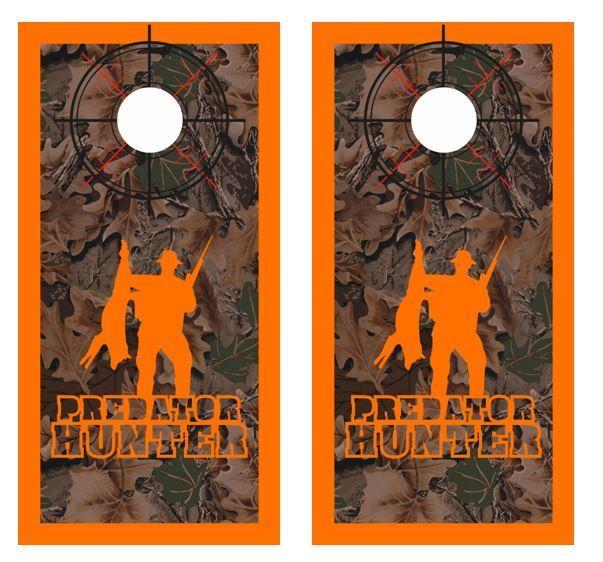 Realtree Camo - Predator Hunter -  Crosshair - Boarder Cornhole Board Wraps  factory outlet online discount sale