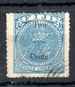 Fiji-QV-1872-2c-on-1d-pale-blue-good-used-13-Sold-as-IS-WS13474