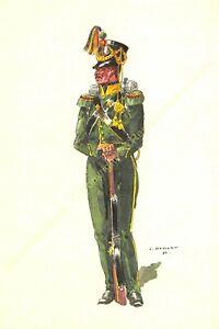 Illustration J.Demart Militaria Belgien Premier Chasseurs Fuß 1831