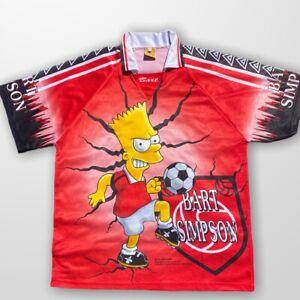 RARE-Vintage-1999-Bart-Simpson-MANCHESTER-UNITED-FOOTBALL-SHIRT-JERSEY