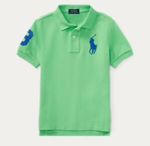 NWT POLO RALPH LAUREN TODDLER BOYS BIG PONY LION STRIPED RUGBY SHIRT RED