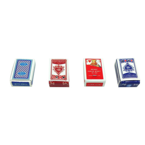4Sets Games Poker Playing Cards Miniature Dollhouse Accessory 1:12 Scale Toy