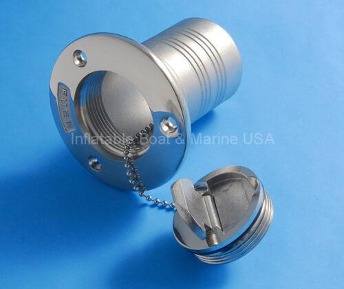 "Marine Stainless Steel 2/"" Diesel Boat Deck Fill Filler Keyless Cap"