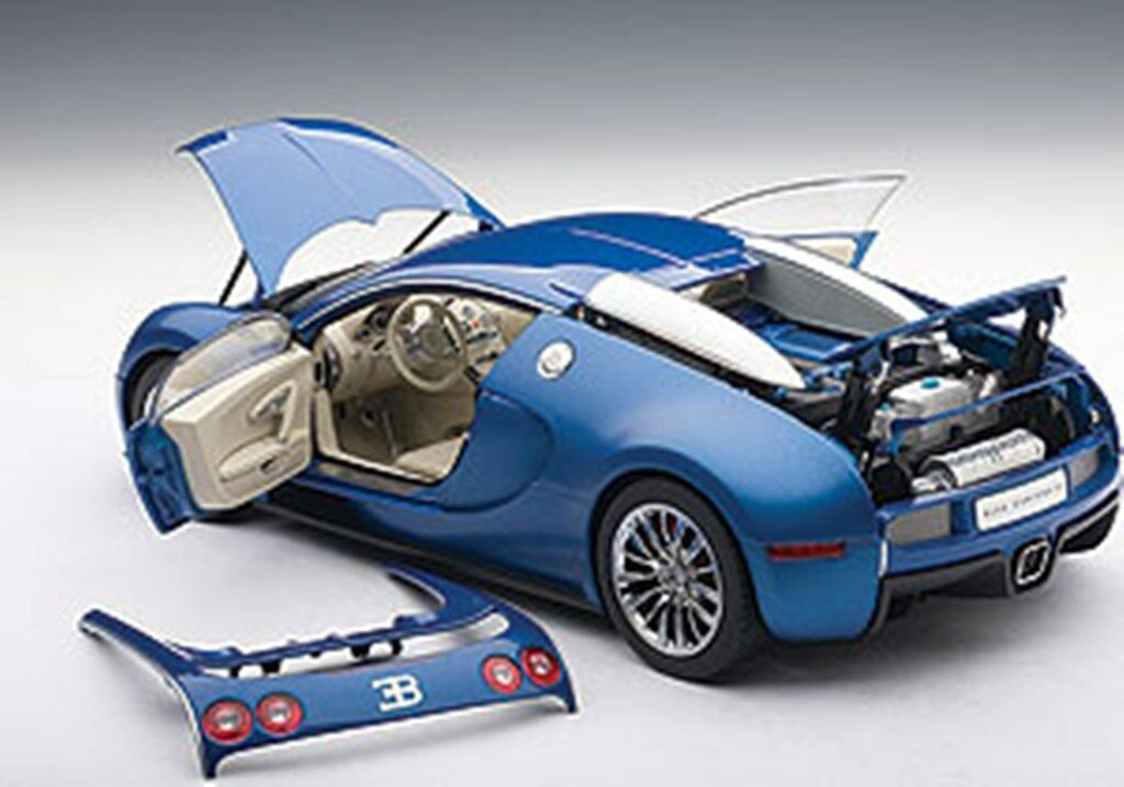 Autoart 70902 70951 de 70, Bugatti EB VEYRON 16.4 Modelo De Coche Gris Azul Rojo 1:18th