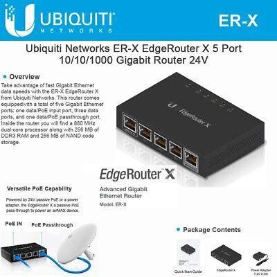 Ubiquiti ER-X EdgeRouter X Gigabit 5 port Router PoE 708747431780   eBay