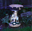 Solar Power Meerkat Bird Feeder Bath table Eco Friendly Garden Light Feature
